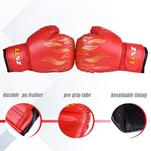 Kinder Boxhandschuhe mit Klettschluss Klein Box-Handschuhe für Kinder von 3 - 10 Jahre Training Gloves 6 Unzen zum MMA, Muay Tha Abbildung 3