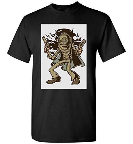 PINK BUTTERFLY Camiseta de buceo con casco de buceo