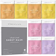 Viva Naturals Moisturizing Rose Charcoal Sheet Mask - Amazon Vine (Pink)