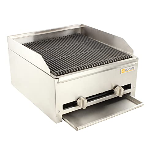 """HOCCOT 22"""" Commercial gas grill Radiant Char Broiler, Stainless Steel Natural Gas Char Broiler with Grill for Restaurant Equipment BBQ, 55000 BTU Gas Grills Natural"""