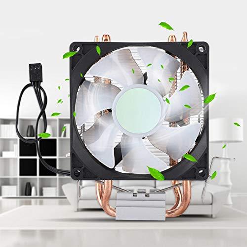 Shipenophy Alta eficiencia Conveniente, confiable, eficaz, radiador, CPU, refrigeración, radiador Práctico, 2 Tubos, CPU, Ventilador de refrigeración, CPU, Enfriador, para Escritorio, para