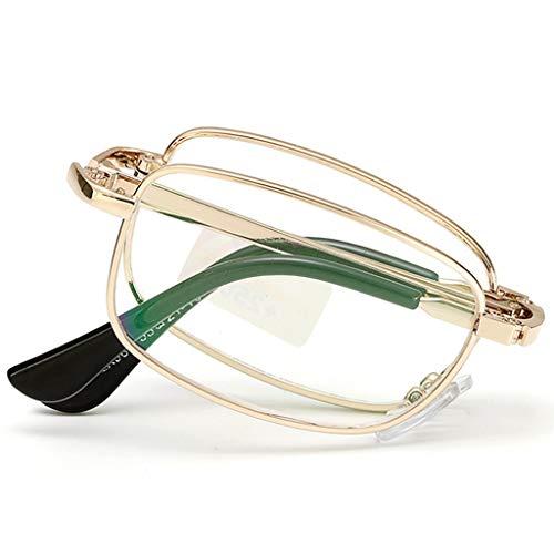 QQAA mannen en vrouwen opvouwbare leesbril Crystal Lens,Reduceer hoofdpijn&Eyestrain,Altijd een stijlvolle look en Crystal Clear Vision wanneer je het nodig hebt