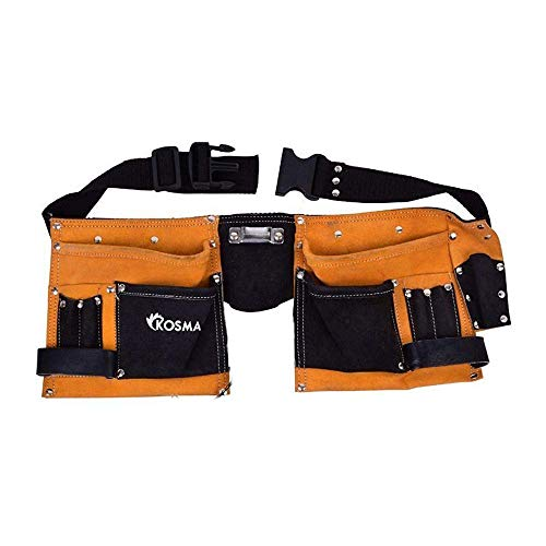 Kosma - Bolsa para electricista de carpintero de piel con 11