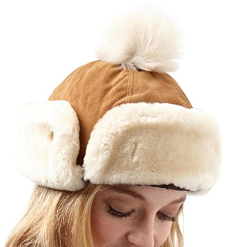 UGG Sombrero para mujer Pom Heritage Up, color castaño U1918, L/XL