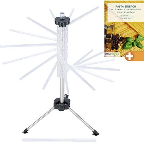 smartpeas Nudeltrockner – Nudelständer zum Trocknen deiner Pasta – Mit 16 Armen passt Jede Nudel auf den Trockenständer +inkl eBook