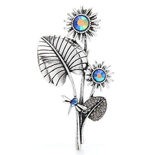 GLKHM Retro Broche Pin Broche De Flor De Libélula Unisex De Girasol Vintage
