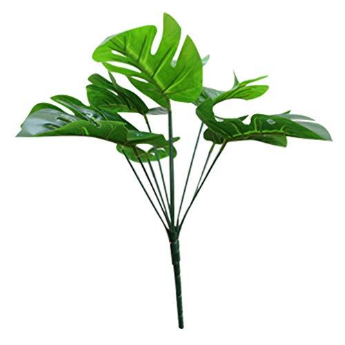 LIOOBO 9 Köpfe Künstliche Tropische Palmenblätter mit Stielen für Safari Dekorationen Tropische Partei Liefert Jungle Beach Luau Theme Party Dekorationen