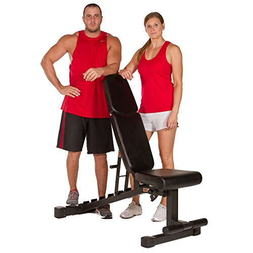 XMark 9010 Black Adjustable Weight Bench, 1500# Capacity Weight Bench, Transport wheels make this beast easy to roll in and out of your power cage or functional trainer.