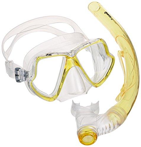 Mares Erwachsene Maske plus Schnorchel Set Zephir Tauchmaske, Yellow/Clear, One size