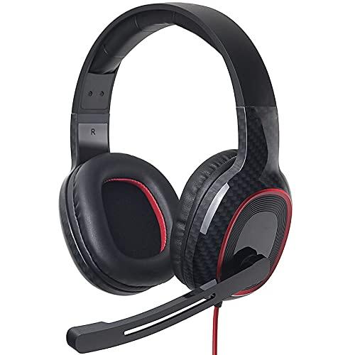 HYK Auriculares para juegos in-ear 7.1 sonido envolvente y micrófono con cancelación de ruido almohadillas suaves para PC PS4 PS5 auriculares de juego