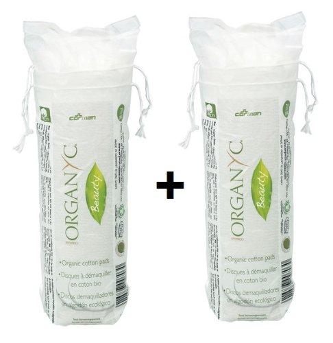 Organyc Lot de coton biodégradable emballage 2 x 70 ST. Lot de 2