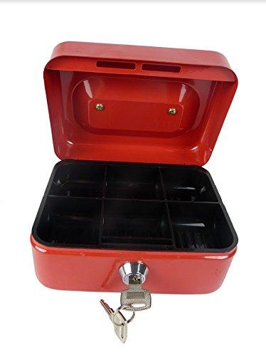 Hyfive 6' Rojo Steel una especie de caja chica dinero titular de seguridad
