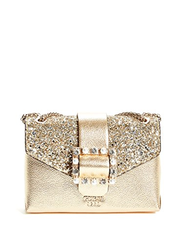 Guess Damen Tasche TRACOLLA CROSSBODY SUMMER NIGHT CITY MINI GOLD B19GU19