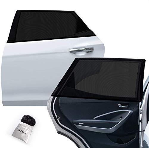 AstroAI Auto Sonnenblende Kinder Sonnenschutz Autofenster, UV Schutz dehnbares Netzgewebe mit Klettverschluss zur Befestigung - Universal Passform 67cmx130cm(2er Pack,...