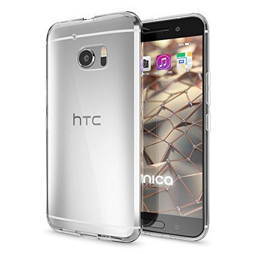 NALIA Handyhülle kompatibel mit HTC 10, Slim Silikon Motiv Case Cover Crystal Schutzhülle Dünn Durchsichtig, Etui Handy-Tasche Backcover Transparent Smartphone Bumper - Transparent