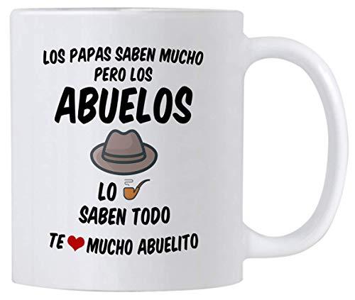 Koffiemok, Thee Beker, Regalos para el Mejor Abuelo del Mundo, 11 Ounce Abuelito Koffiemok, Opa geschenken in het Spaans, Taza de Regalo para Dia del Padre o Cumpleanos