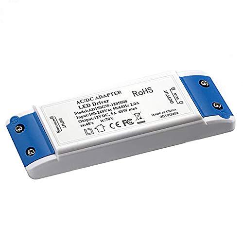 MEKEET LED Trafo 12V DC 60W Transformator Netzteil Überlastungsschutz Treiber kein Transformator-Rauschen für G4, GU4, GU5.3, MR16, MR11 Leuchtmittel Spots und mehr