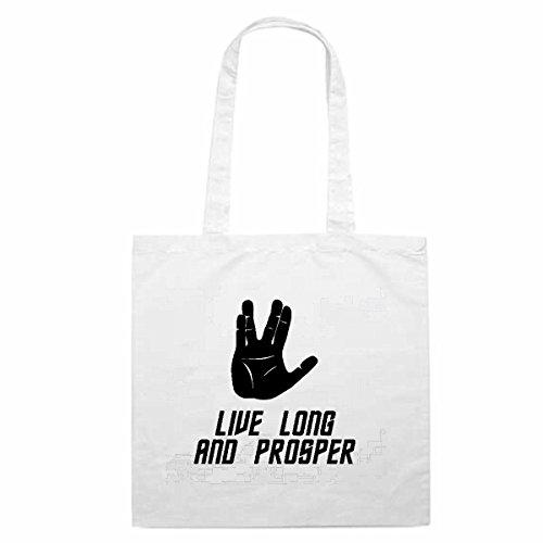 Tasche Umhängetasche Motiv Nr. 3182 Live Long and Prosper Star Trek Spock Vulkan Trek Einkaufstasche Schulbeutel Turnbeu
