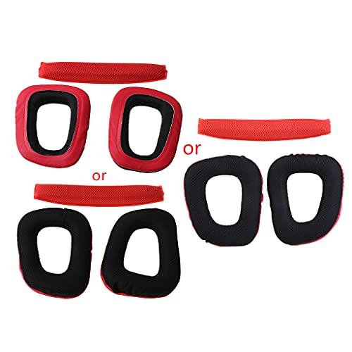 IOOOFU Conjunto de almofadas de substituição para fone de ouvido G35 G930 G430 F450 – Vermelho