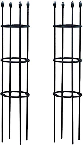 auvstar 2020 Garden Plant Cage Support Tomato Cage Flowers Cages, Gardening Support Assembly, Plant Support Stakes Suitable for Vertical Climbing Vegtables, Fruit Grow Obelisk (black)