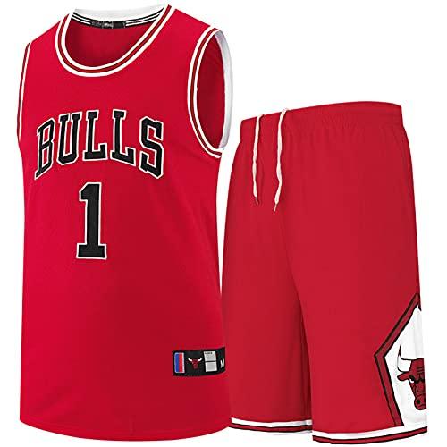 BAAFG 1# Jersey de Bordado de Baloncesto Masculino, Chaleco sin Mangas + Pantalones Cortos Camisetas Traje de 2 Piezas (XS-3XL) M