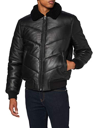 Schott nyc LCDOWN3 Leather Jacket, Black, X-Large Mens