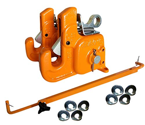 Pat's Easy Change with Stabilizer Bar - Best Quick Hitch System On The Market – Flexible, Durable and Affordable (Orange CAT #1)