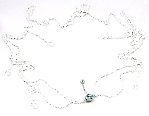 Body Accentz Belly Button Ring Navel Body Jewelry Dangle Waist Chain 14 Gauge