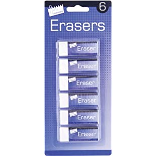 Customer reviews Just Stationery Eraser - White (Pack of 6)