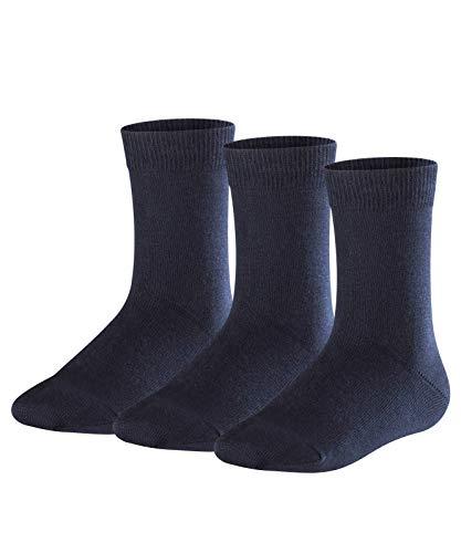 FALKE Kinder Socken Family 3-Pack - 94% Baumwolle, 3 Paar, Blau (Dark Marine 6170), Größe: 35-38