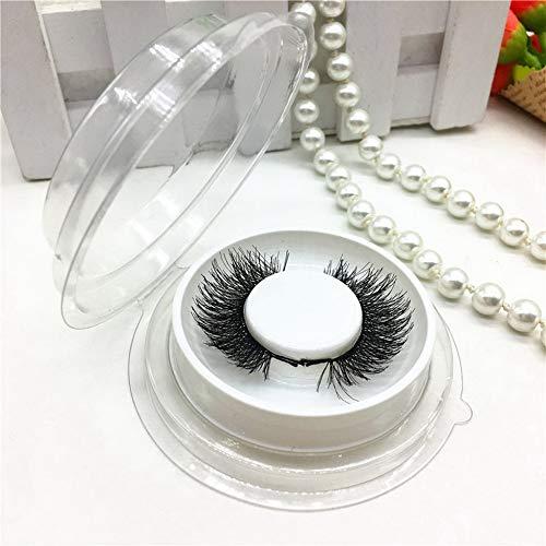 Cils magnétiques pour les yeux sans colle réutilisables faux aimants cils extension épaisse faux cils pour le maquillage des femmes-noir A2