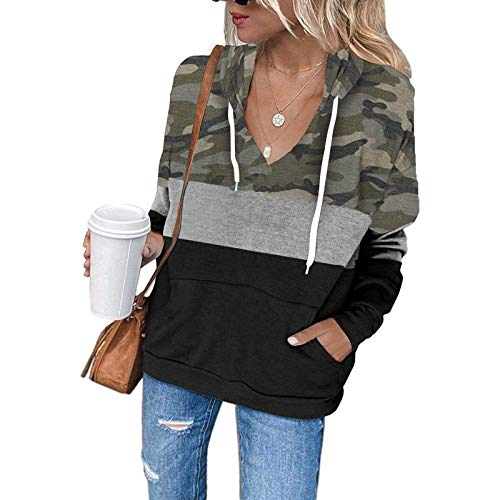 Punk Goth Streetwear Jacket with Pockets Women's Pullover Hoodies Tops Casual Button Down Long Sleeve Sweatshirts with Pocket Women's Terry Cotton and Modal Relaxed-Fit Cropped Long-Sleeve