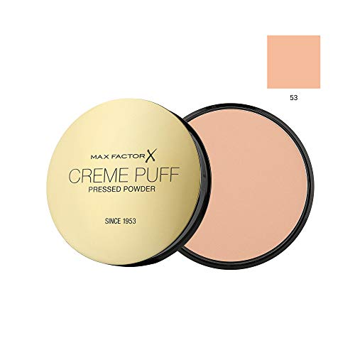 MAX FACTOR Creme Puff Face Foundation Make Up, Over 10 Different Cosmetic Shades Poducts To Choose From - (1 PACK, 53 Tempting Touch) by Max Factor