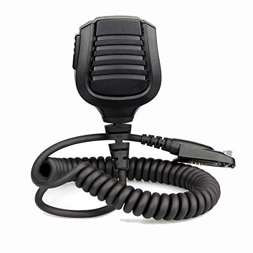 Retevis Lautsprechermikrofon Wasserdicht IP54 Kompatibel mit Walkie Talkie Retevis RT82 RT87 RT29 RT648 Kompatibel Ailunce HD1 DMR Radio Digital Funkgerät (1 Stück)