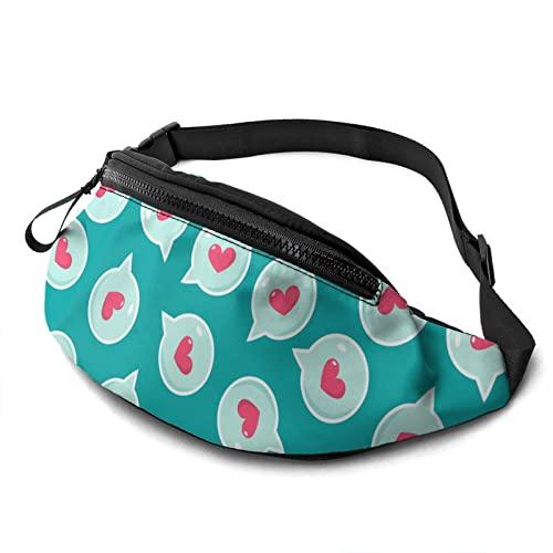 OUCSSDLTD Gürteltasche mit Aufschrift 'Happy Valentines Day', für Männer und Frauen, verstellbare Hüfttasche mit Kopfhörer-Hüfttasche, Happy Valentine's Day Gruß, As Shown,