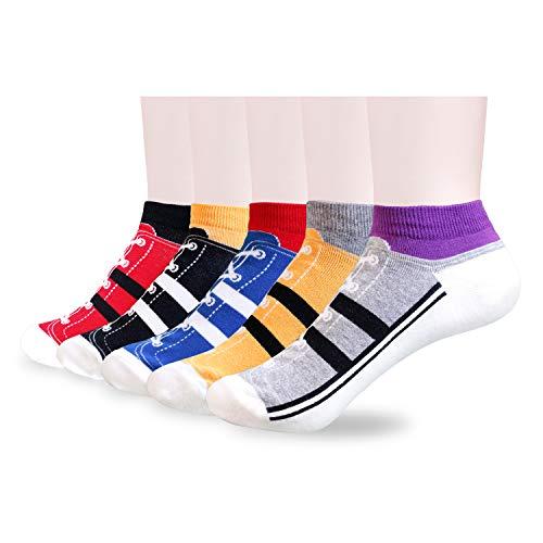 Tom & Mary Women's Funny Novelty Ankle Socks, Combed...