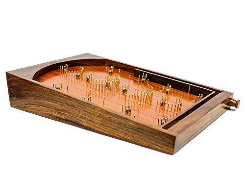 Bagatelle Traditionelle Tisch-Kugelspiel, aus Holz, Exklusives Kinderspielzeug, Dekoration und Geschenke