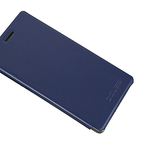 Tasche für Vernee Apollo Hülle, Ycloud PU Ledertasche Metal Smartphone Flip Cover Hülle Handyhülle mit Stand Function Marineblau