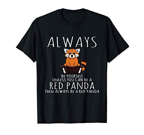 Animal Lover Be Yourself Disfraz de Panda Rojo Camiseta