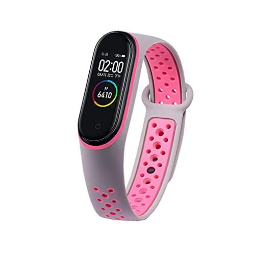 Para mi banda 3 4 5 6 correa deporte silicona reloj pulsera pulsera accesorios pulsera inteligente para xiaomi mi banda 4 correa