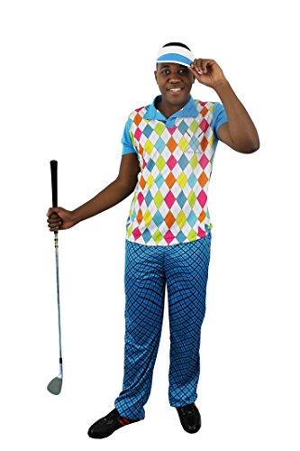 I LOVE FANCY DRESS LTD MÄNNER Golf KOSTÜM VERKLEIDUNG= 4 Verschiedene GRÖSSEN=3 TEILIG =100% Polyester=Fasching Karneval Spass =XXLarge
