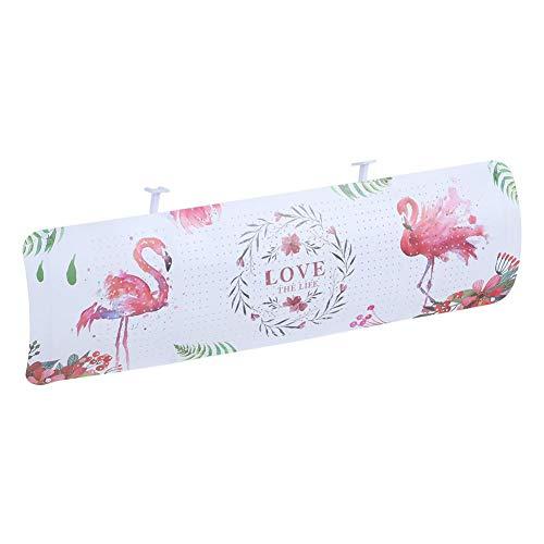 Bouclier de vent de climatiseur élégant durable, déflecteur d'air réglable, bureau de bébé de femmes anti-soufflage direct ABS pour la maison(Flamingo)