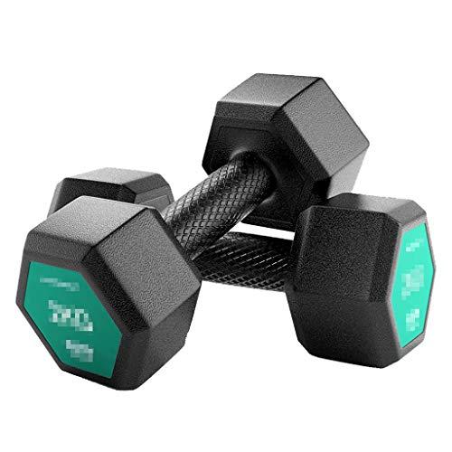 Mancuernas Recubiertas De Goma 4.6.10.12.15.20 Kg Equipamiento Doméstico De Fitness para Hombres Entrenamiento De Brazos Trajes, Par A La Venta
