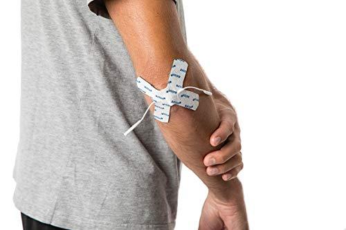 2 Electrodos especiales para articulaciones de axion | para punto de dolor o partes redondas del cuerpo | para su electroestimulador TENS EMS | en forma de X