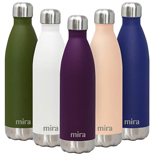MIRA 25 Oz Stainless Steel Vacuum Insulated Water Bottle - Double Walled Cola Shape Thermos - 24 Hours Cold, 12 Hours...