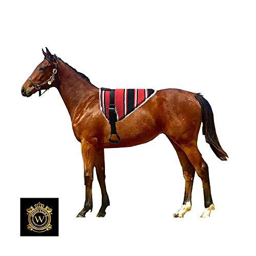 Windsors Navajo Bareback mit Gurt und teilbaren Faser-Steigbügel, bequeme Pads für Pferde