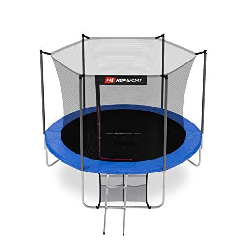 Hop-Sport Gartentrampolin - ø 305 cm Komplettset inkl. Innennetz, Leiter, Wetterplane und Bodenhaken
