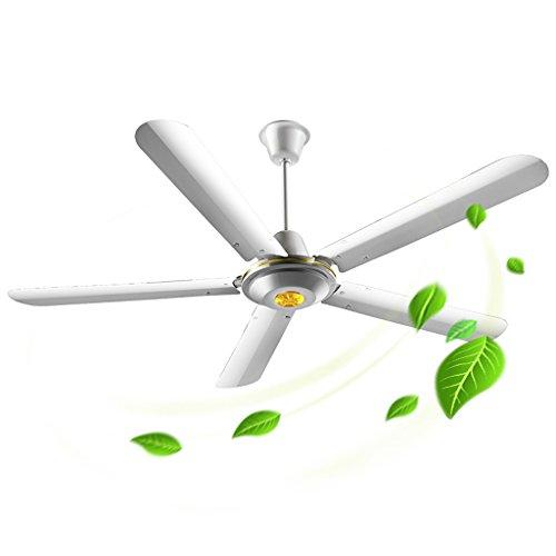 Plafondventilator voor huis, 56 inch, ijzer, mute wind, groot, woonkamer, slaapkamer, restaurant, industriële kran King 56 inch, koperen motor, lens voor uitbreiding wind sound 80 W