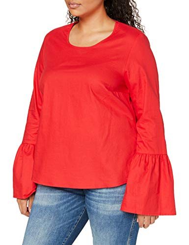 Studio Untold Duże rozmiary damska bluzka tunika z falbankami