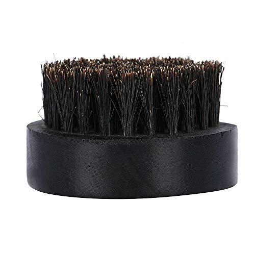 Yuyanshop Cepillo para barba bigote círculo color negro cepillo de haya para el peinado y cuidado de la barba ayuda a suavizar y acondicionar el crecimiento añade brillo y suavidad